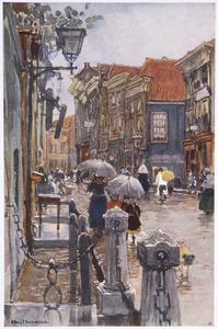 Gezicht op straat in Dordrecht