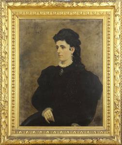Portret van een vrouw genaamd Cornelia Petronella Joanna Tachi (1844-1916)