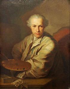 Zelfportret van Januarius Zick (1730-1797)