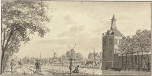 De Leidsevaart bij de buitenplaats Zwanenburg gezien vanuit het zuiden