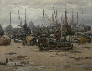 Storm te Scheveningen, December 1894