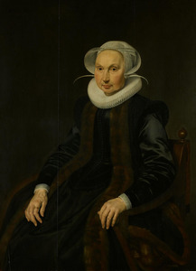Portret van Anna Jacobsdr. Blaeu (1556-1627)