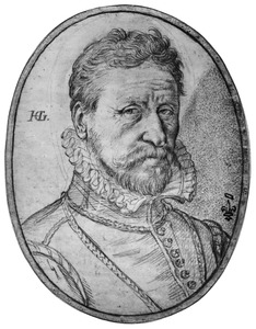 Portret van Allaert Fransz Schatter, waard van de herberg 'De Oranje Appel' in Haarlem