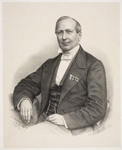Portret van Dirk Peereboom Voller (1811-1887)