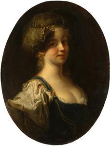 Portret van een jonge vrouw met een tulband