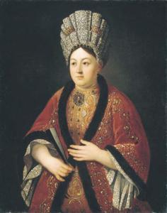 Portret van Maria Stroganova