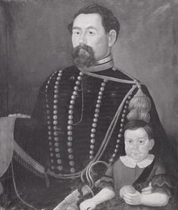 Dubbelportret van Johan Wilhelm Carl Leukvelt (1830-1917) en Otto Max Leukvelt (1860-1935)