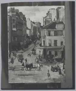 Rue de Clignancourt mogelijk gezien vanaf de derde of vierde verdieping van het pand op de Rue Gérando 20  te Parijs