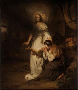 De engel haalt Hagar over terug te gaan naar huis (Genesis 16:7-14)
