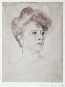 Portret van Theo Mann-Bouwmeester (1850-1939)