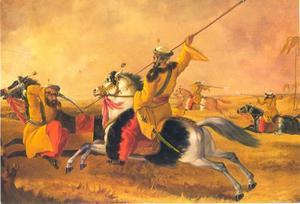 Oefening van de First Bengal  Iriregular Cavalry (Skinner's Horse)