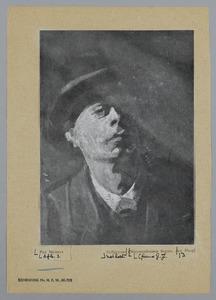 Zelfportret van Piet Meiners met hoed