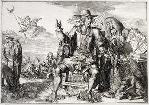 Zinneprent op het erfstadhouderschap van prins Willem III van Oranje-Nassau