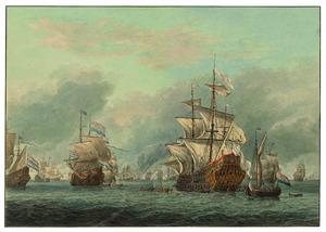 Verovering van het Engelse admiraalsschip de 'Royal Prince', 13 juni 1666, tijdens de Vierdaagse Zeeslag