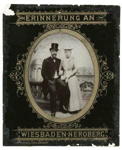 Dubbelportret van Guillaume Pierre van Outeren (1858-1912) en Helena Gerardina Kleinpenning (1868-...)
