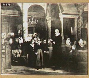 Godsdienstonderwijs in de Lutherse kerk te Vik, Noorwegen