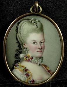 Portret van een vrouw, waarschijnlijk Wilhelmina van Pruisen (1751-1820)