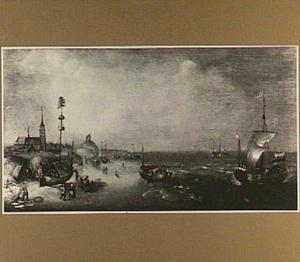 Het strand van Scheveningen gezien vanuit het noordoosten