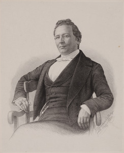 Portret van Hidde Justusz Halbertsma (1820-1865)