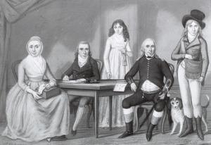 Portret van een onbekend gezin, waarschijnlijk uit de omstreken van Arnhem of Nijmegen