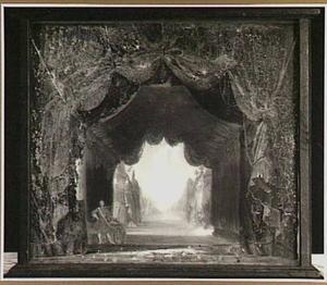 """Het toneeldecor """"De Legertenten"""" van Pieter Barbiers (1774) met een scène uit 'Achilles' (B. Huydecoper)"""