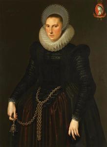 Portret van Aeghje Hooft (1587-1653)