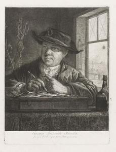 Zelfportret van Georg Friedrich Schmidt (1712-1775)