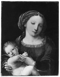 Maria met kind spelend