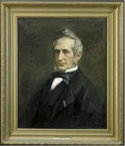 Portret van W. (Willem) Moll  (1812-1879)