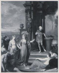 Allegorische voorstelling met portret van mogelijk Willem IV van Oranje-Nassau (1711-1751)