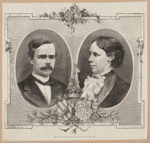 Portret van Wilhelm Fürst zu Wied (1845-1907) en Marie prinses van Oranje-Nassau (1841-1910)