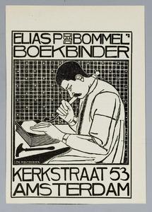 Portret van Elias P. van Bommel, boekbinder