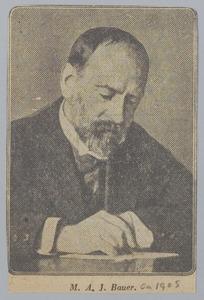 Portret van de kunstenaar Marius Bauer