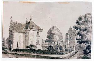 Het huis Levendaal bij Rhenen vanuit het noorden gezien