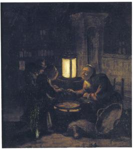 Nachtelijke pannekoekenverkoopster