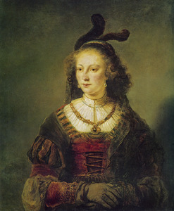 Vrouw met muts en sluier