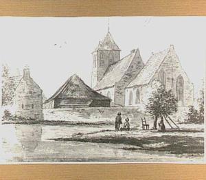 De hervormde kerk van Poederoijen, gezien vanuit het zuidoosten