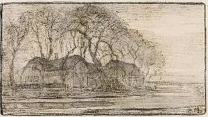Farm at Duivendrecht: study for mixed media drawing