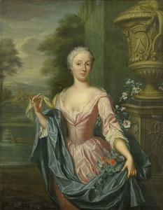 Portret van Claudina van Royen (1712-1785)