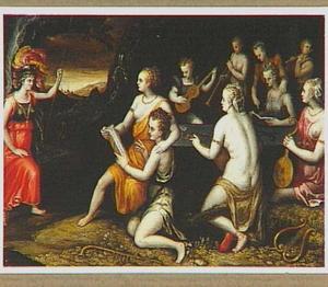 Minerva en de negen muzen