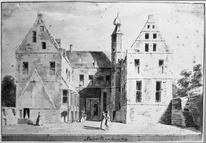 Binnenplaats van de havezathe Saasfeld (of Saasveld of Saesveld) bij Ootmarsum
