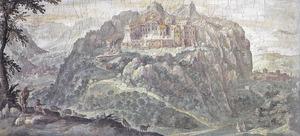 Landschap met de abdij van Montevergine