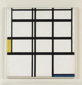 Composition en jaune, bleu et blanc: I