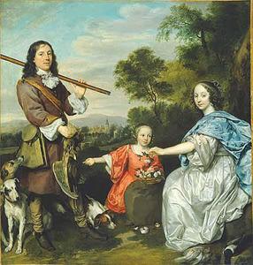 Portret van de familie van Matthijs Pompe (1621-1679)