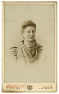 Portret van Emilia Elizabeth van der Wissel