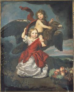 Dubbelportret van een onbekende jongen en een onbekend meisje als Ganymedes en Hebe