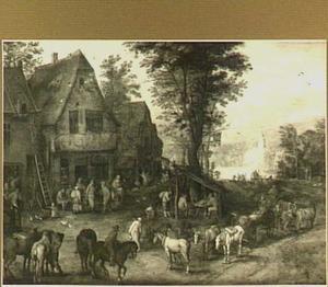 Jozef en Maria bij de herberg