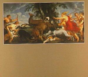 Diana en haar nimfen  tijdens de hertenjacht