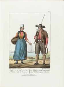 Een visser en zijn dochter van Schokland