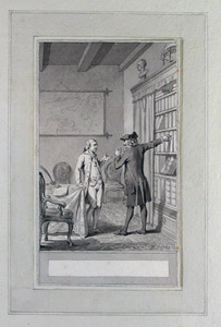 Illustratie bij 'Dejonge geleerde' uit de Fabelen en vertelsels van F.C. Gellert